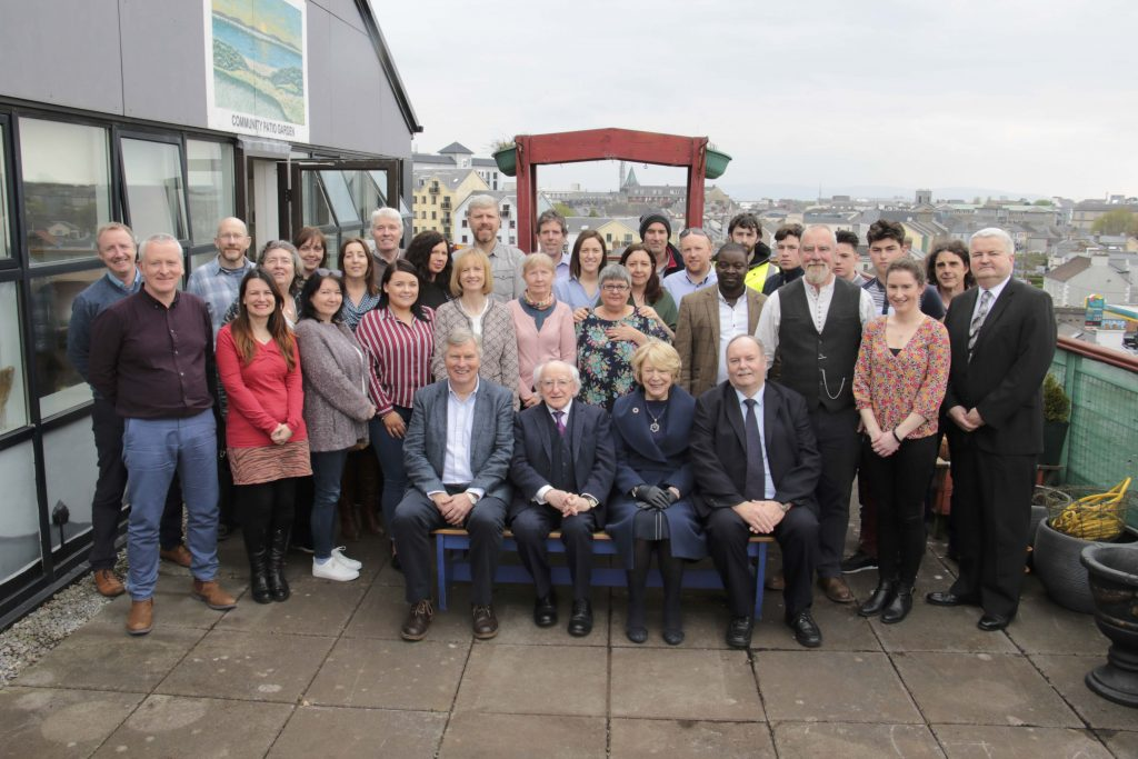 President Higgins visiting Galway City Partnership